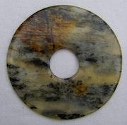 Disc zwei gestreiften Grau und Creme. Dragonasie Sarl