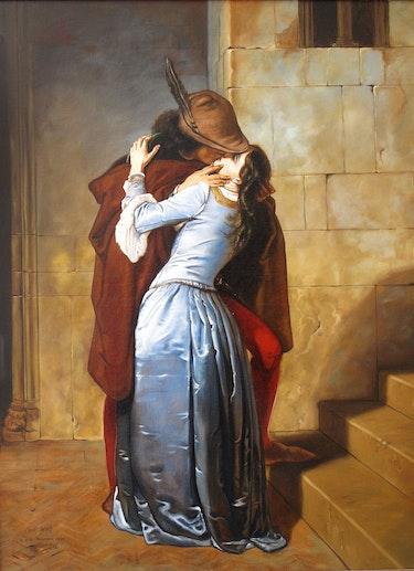 Der Kuss der nach Francisco Hayez. James