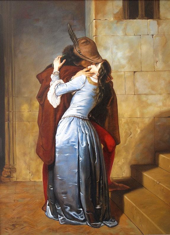 Der Kuss der nach Francisco Hayez. Maire Jmaes James