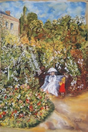 The garden in Poissy after Camille Pissarro.