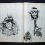 Drawing Indian ink Patient No. 3390. Jim Quéré
