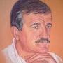 Portrait en hommage a mon frère. Gisel'art