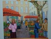 Le marché aux fleurs d'Aix en provence.