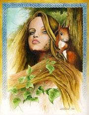 Femme à l'écureuil.