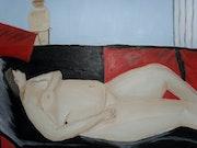 Nue allongée faisant la sieste. Yann Lefebvre