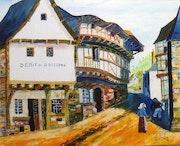Débit de boisson vieille rue d'Auray (Bretagne).