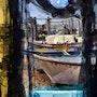 Abstrait de port de pêche. Créartiss/créactif