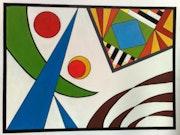 Tableau abstrait africain. Nabil Kellaci