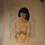 Nue academique la belle melancolie. Forangeart F. Baldinotti Peintre De l'air