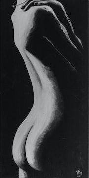 Coubure - Nu Féminin - noir et blanc -.