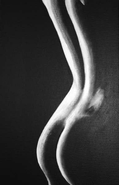 Aperçu - nu noir et blanc -. Jp Jo-Elle
