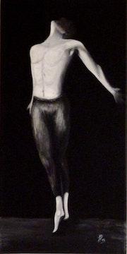 Danseur - homme - noir et blanc -.