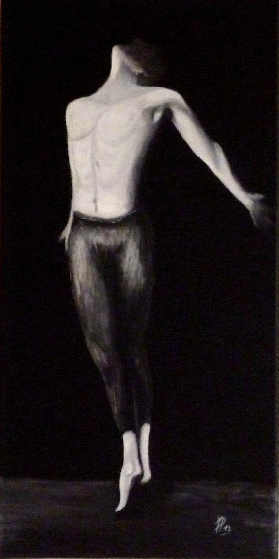 Danseur - homme - noir et blanc -. Jp Jo-Elle
