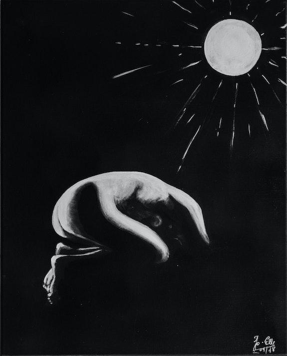 Repli - nu féminin - noir et blanc -. Jp Jo-Elle