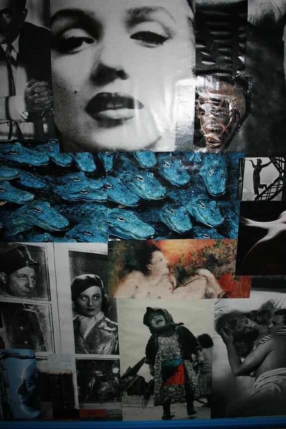 Collage aux multiples regards (détail 2). Claude Letey Claudaix