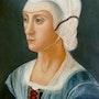 Hommage à Ghirlandaio - Portrait de Lucrezia Tornabuoni. Diana. K