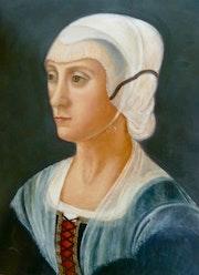 Hommage à Ghirlandaio - Portrait de Lucrezia Tornabuoni.