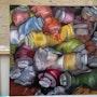 Un tas de tubes de peinture. Sbx