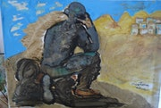 Le penseur d'Afghanistan, The Thinker of Afghanistan.