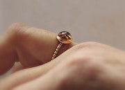 Rose 14k gold filled Stackable Gemstone Citrine November Birthstone Ring. Nadine Jewelry