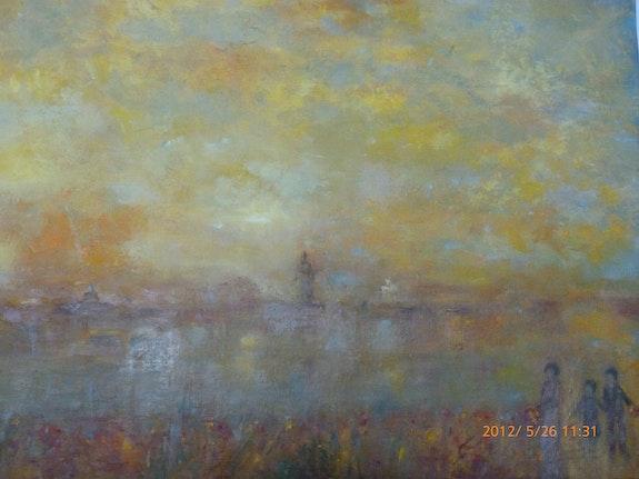 Au bord de l'étang. Jackie Engiel Jackie Engiel