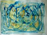 Etude de formes abstraites gouache sur papier.
