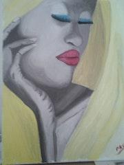 Femme au sari jaune. Pks