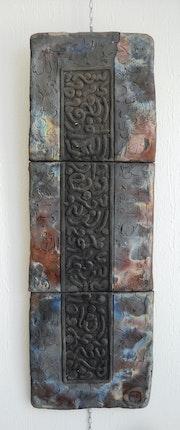 Tableau en céramique raku.