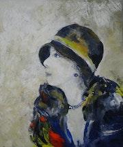 Les années 30 : Mimi et son chapeau.