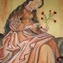 La Vierge au jardinet. Brigitte Leleu
