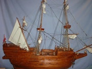 Handcrafted model ship. Louis Nanette