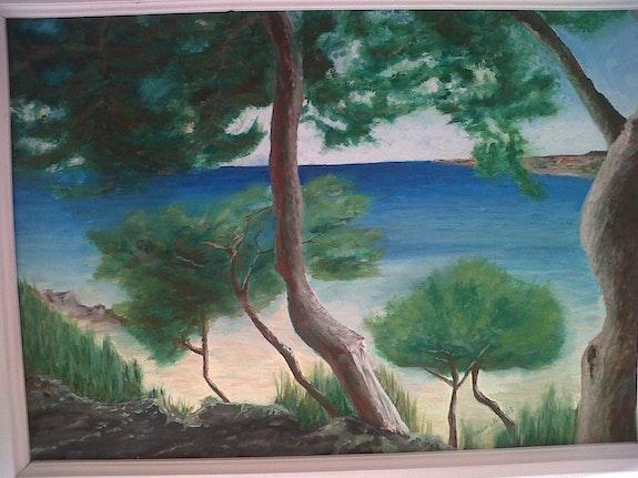 Carro peinture a huilr. André Maillet Johanes