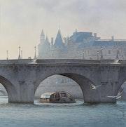 Le bateau Mouche et le Pont Neuf.