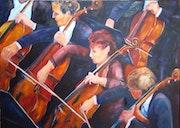 Pupitre de violoncelles.