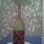 La bouteille ciment acrylique. Johanes