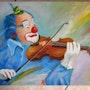 Clown le violonniste 2. Johanes