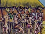 Le bar de la plage.