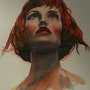 Étude portrait Bella doña expressionnisme. Forangeart F. Baldinotti Peintre De l'air