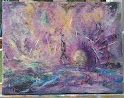 Abstrait peinture Acrylique sur toile.