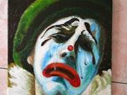 Clown je pleure huile. Johanes