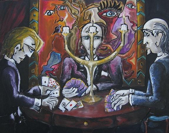 La partie de cartes. Bertrand Lamouroux Bertrand Lamouroux