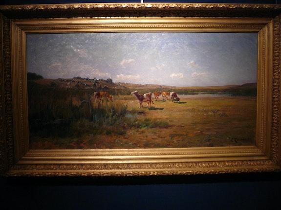Paysage au troupeau. Terraire Clovis (1858-1931) Galerie Pentecoste-Darbois