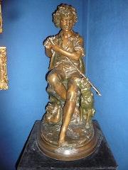Une vocation (Le jeune pâtre), Aizelin Eugène. Galerie Pentecoste-Darbois