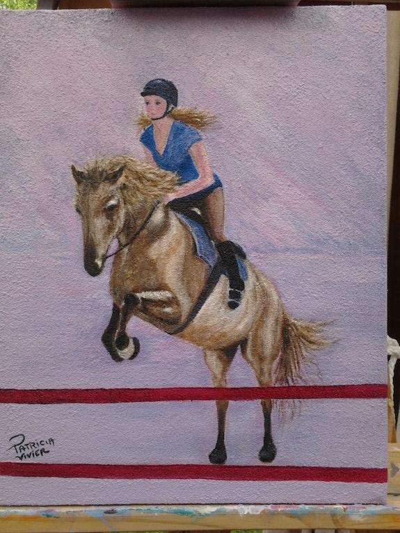 Alaska et sa cavalière. Patricia-Vivier-Robert Patricia Vivier Robert » Pat V »