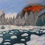 Le feu et la glace (huile). Ghislaine Phelut