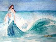 Jeune femme et la mer.