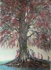 Le hêtre rouge du Parc Montsouris ou l'Esprit de l'arbre.. Françoise-Elisabeth Lallemand