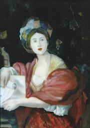 Sybille de Le Dominiquin - Peinture sous verre. Annie Saltel