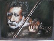 Le vieil homme violoniste.