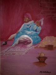 Tissage amazigh maroc.